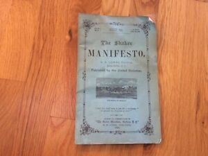 """""""The Shaker Manifesto"""", Published in August 1880"""
