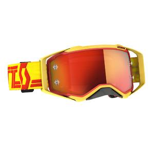 2021 SCOTT Prospect Goggle, Yellow/Red Orange Chrome Works MX, Enduro, MTB.