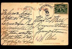 1907 Maplewood NH Doane Cancel Card / DPO - L28277