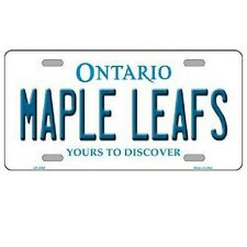 "Toronto Maple Leafs Ontario Background Novelty Metal License Plate 6"" x 12"""