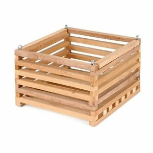 Better-Gro Cedar Slat Vanda Basket - 6 inch square