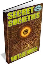 Secret Societies Vintage Book Collection  Freemasons,Illuminati,Kinghts Templar