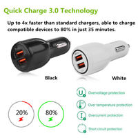 Quick Charge QC 3.0 Dual USB Port Fast Car Mobile Phone Charger Power Adapter GL