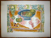 Gabriel ZENDEL lithographie originale signée Montmartre New-York nature morte