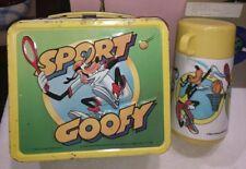 1983 Walt Disney Sport Goofy Alladin Metal Lunchbox w/ Thermos