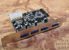 NEW PCI-E PCI Express to 4 Port USB3.0 VLI USB Hub Controller Card Adapter 5Gbps