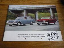 TRIUMPH 2000, BROCHURE, 1966 MODEL YEAR