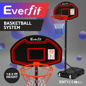 Everfit Portable Basketball Hoop Stand System Rim Ring Net Height Adjustable Kid
