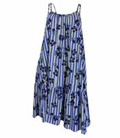 EX M&S Ladies Navy Floral Slip sleeveless summer beach dress sizes 10-18 UK