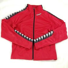 Kappa Mens Vintage Full Zip Track Jacket Rare 1990s Spell Out Red Size Small