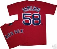 Jonathon Papelbon Boston Red Sox T Shirt MENS 2XL New with tags CLEARANCE 2XL
