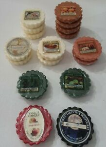 YANKEE CANDLE Tarts Wax Melts Lot of 17 Christmas Cookie Frosted Pumpkin Read⬇️