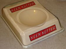 general or gun store Keen Kutter advertising glass antique change tray receiver