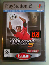 Pro Evolution Soccer 5 (PES ) NUOVO  PLATINUM ITALIANO  PS2