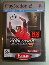 Pro Evolution Soccer 5 (PES ) NUOVO  PLATINUM ITALIANO  PS2