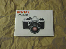 Vintage 1980 Pentax ME Super Instruction Manual (Printed in Japan)