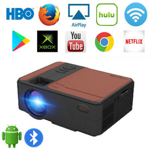 New ListingPortable 4000Lms Hd Led Smart Projector Android 6.0 1080P Blue-tooth Big Screen