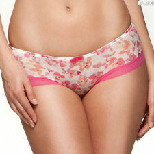 Knickers Pink & White Floral Size 16 Glossy Stretchy Gossard Ladies Briefs