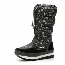 Winter Women's Mid-Calf Boots Top Pull On Waterproof Plush Snow Shoes Sneakers