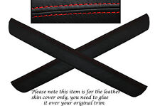 RED STITCH 2X FRONT DOOR SILL TRIM SKIN COVERS FITS HONDA CIVIC MK8 2006-2012