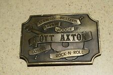 """< Ma > Vintage Hoyt Applique Ceinture Boucle - Indiana Métal Artisanat - 4 """" x 2"""