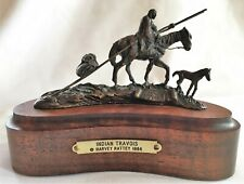 "Harvey Rattey ""Indian Travois"" Bronze Limited Edition statue 87/20 Listed Artist"