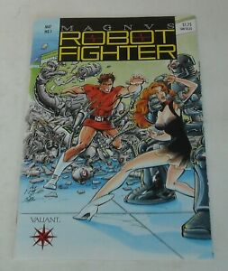 MAGNUS ROBOT FIGHTER # 1 VALIANT COMICS May 1991 with TRADING CARD INSERT