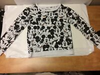 DISNEY MICKEY MOUSE lightweight Sweatshirt Size L Pullover Top Long Sleeve