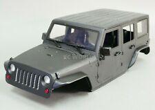 1/10 Scale Truck Body Shell JEEP WRANGLER RUBICON 4 Door Hard Body BLACK