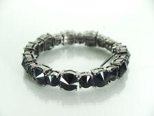 Tasha  Bracelet Gorgeous Black Crystal Magnet Clasp