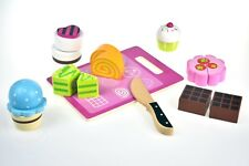 Wooden Cutting Afternoon Tea Set with Knife & Board | Food Kitchen Cake High