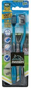 Penrith Panthers Adults and Children Official NRL Toothbrush Twin Pack