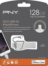 PNY Duo-Link On-the-Go 64GB USB 3.0, Apple Lightning Flash Drive