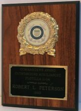 1993 United States Coast Guard Auxiliary Commander's Award Plaque