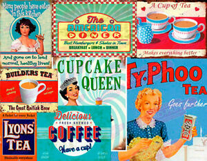 Vintage Retro Diner Cafe Restaurant Advertisement Metal Wall Signs and Plaques