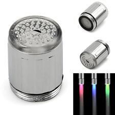 7 Color Changing RGB Glow Shower LED Light Water Faucet Tap For Kitchen/Bathroom