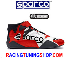 SCARPE SPARCO OMOLOGATE FIA APEX 2018 - SPARCO RACING SHOES TG 41 BIANCO ROSSO