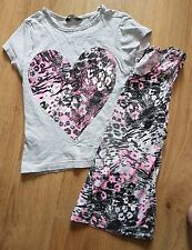 VEST TOP AND T-SHIRT TOP BOTH WITH SAME STYLE PATTERN AGE 7-8 YEARS
