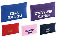 School etc Personalised Pencil Case Great Gift Idea Pink Purple Blue Red
