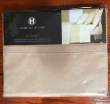 Hotel Collection 600Tc Egyptian Cotton Full Size Flat Sheet, Pale Bronze (Tan)