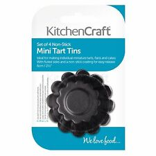 Kitchen Craft Mini-moules À tarte Cannelés Anti-adhésifs