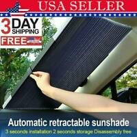 US! Auto Shade Car Retractable Curtain UV Protection Front Windshield Sun Visor