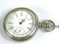 C. 1898 Waltham PS Bartlett Model 1883 18s 17J Lever set Pocket Watch