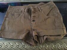 Ladies brown tan shorts G Star Raw new no tags size 32 waist
