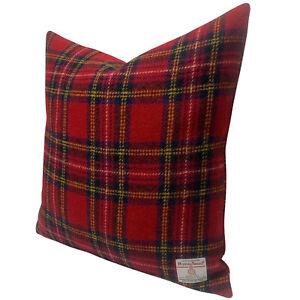 "Harris Tweed Royal Stewart Tartan 45cm / 18"" Cushion Duck Feather Insert"