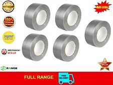 36 Duck Duct Gaffa Gaffer Waterproof Cloth Tape Silver Black 50mm x 50m 1 2 3 6