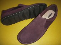 Clarks Tamitha Gwyn Suede Leather Slip-On Shoes Flats Women's 9.5 W Aubergine