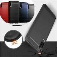 Shockproof Carbon Fiber Soft TPU Back Case Cover For Samsung Galaxy A70 A50 A10e