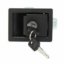 Door Lock Latch Keys RV Paddle Entry Black Handle Knob Dead Bolt Camper Trailer