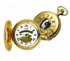 Woodford Gold Plated FLYING SCOTSMAN Half Hunter Pocket Watch.